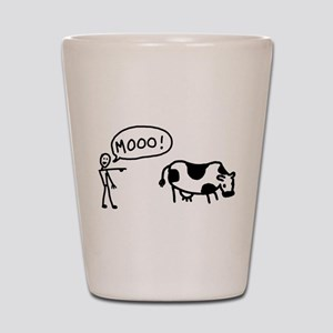 Moo At Cow Shot Glass