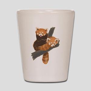 Red Pandas Shot Glass
