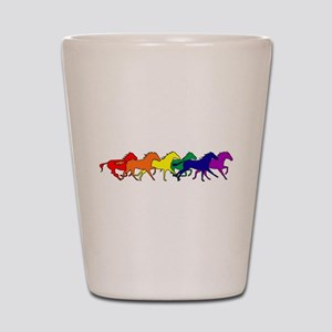Horses Running Wild Shot Glass