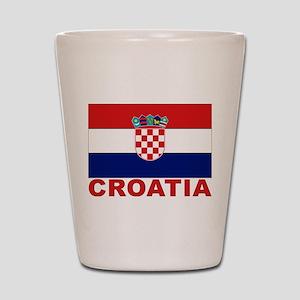 Croatia Flag Shot Glass