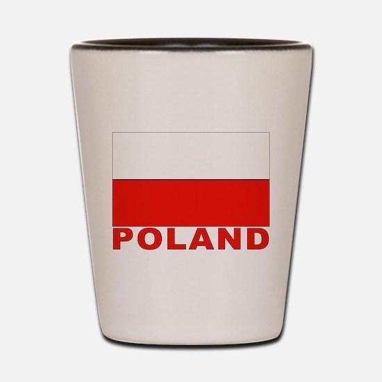 Poland Flag Shot Glass