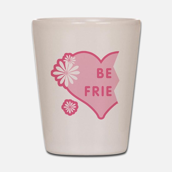 Pink Best Friends Heart Left Shot Glass