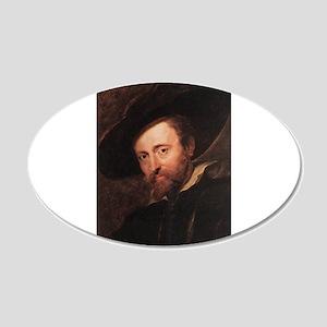 Self Portrait 1628 22x14 Oval Wall Peel