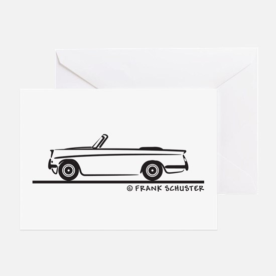 Triumph Herald Convertible Greeting Card