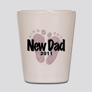 New Dad 2011 (Girl) Shot Glass