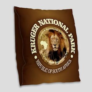 Kruger NP 2 Burlap Throw Pillow