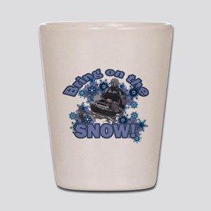Bring On The Snow Shot Glass