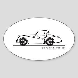 Triumph TR2 Rag Sticker (Oval)