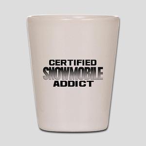 Certified Snowmobile Addict Shot Glass