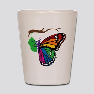 Rainbow Butterfly Emerging Fr Shot Glass