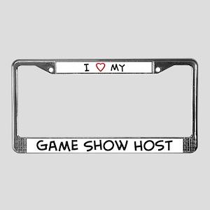 I Love Game Show Host License Plate Frame