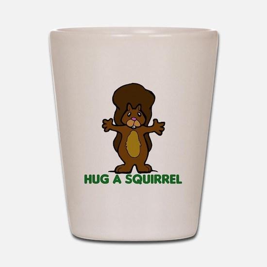 Hug a Squirrel Shot Glass