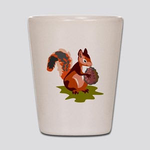 Colorful Squirrel Shot Glass