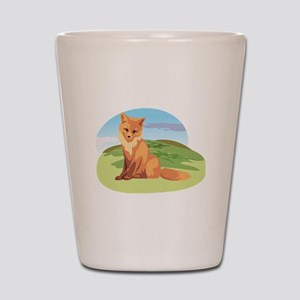 Scenic Fox Design Shot Glass
