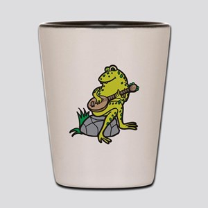 Silly Frog Play Guitar Shot Glass