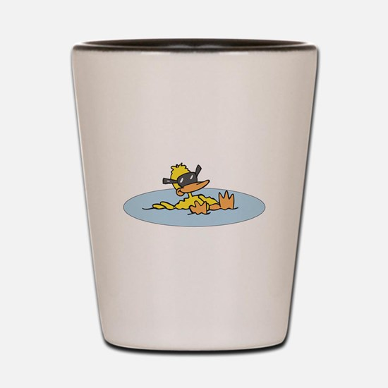 Swimming Ducky With Shades Shot Glass