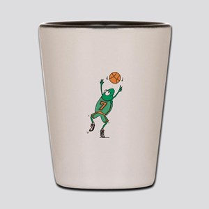 Cute Frog Basketball Player Shot Glass