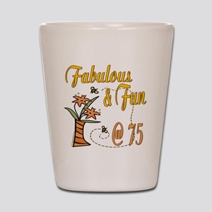 Floral 75th Shot Glass