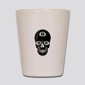 Eight Ball (8 Ball) Skull Shot Glass