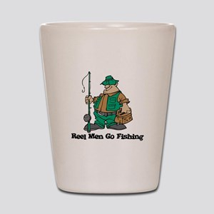 Reel Men Go Fishing Shot Glass