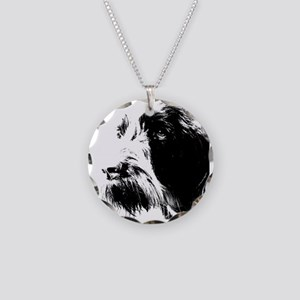spinone Necklace Circle Charm