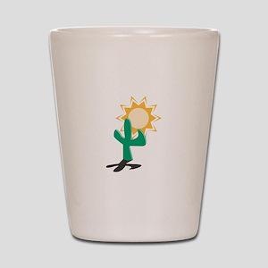 Cactus in the Sun Shot Glass