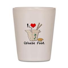 I Heart (Love) Chinese Food Shot Glass