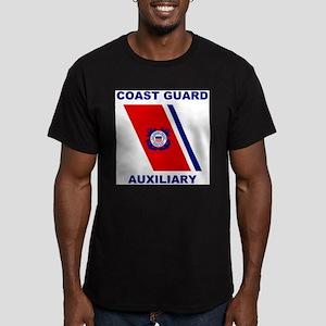USCG Auxiliary Stripe<BR> Grey T-Shirt 2 T-Shirt