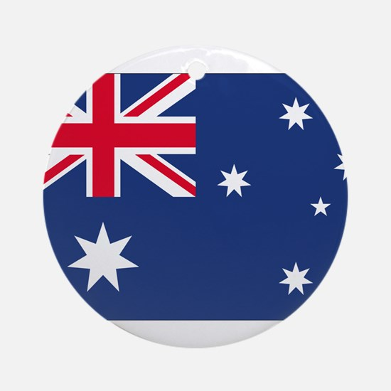 Australian Flag Ornament (Round)
