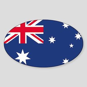 Australian Flag Oval Sticker