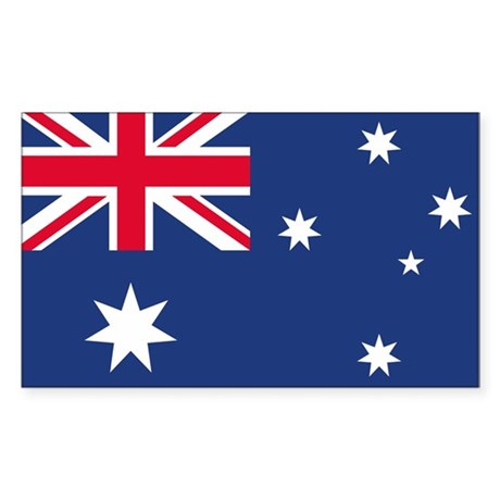 Australian Flag Rectangle Sticker