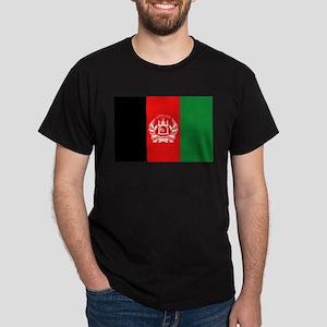 Afghan Flag Black T-Shirt