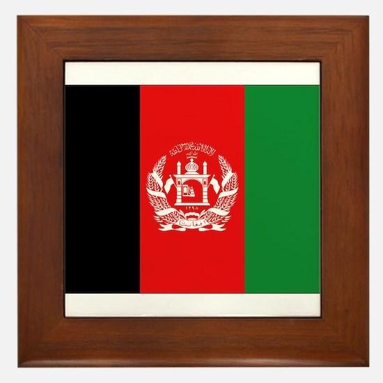 Afghan Flag Framed Tile