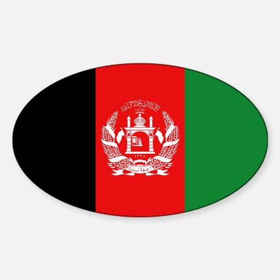 Afghan Flag Oval Decal