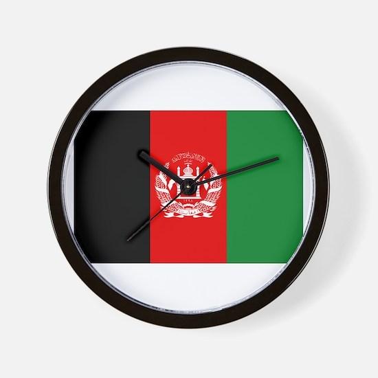 Afghan Flag Wall Clock