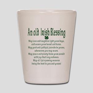 Old irish Blessing Shot Glass