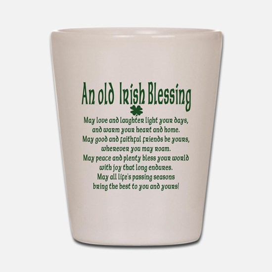 Old irish Blessing Shot Glass