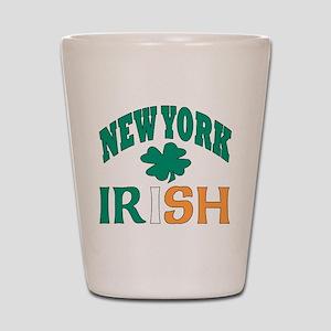 New York irish Shot Glass