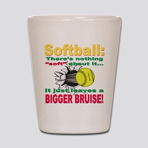 Girls Softball Shot Glass