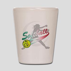 Girls Softball Shot Glass