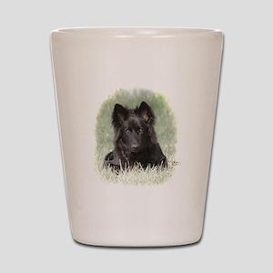 Long Coated German Shepherd Shot Glass
