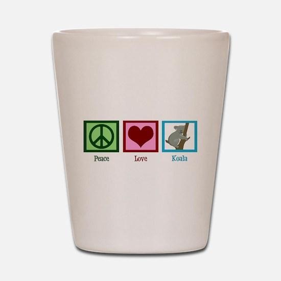 Peace Love Koala Shot Glass