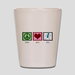 Peace Love Run Shot Glass
