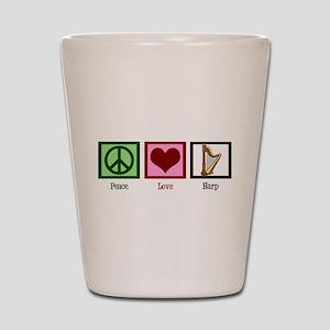 Peace Love Harp Shot Glass