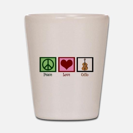 Peace Love Cello Shot Glass