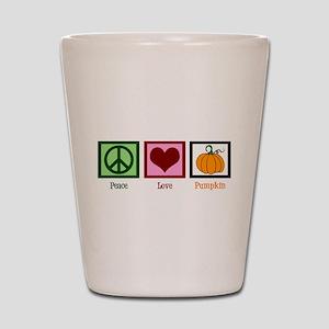 Peace Love Pumpkin Shot Glass