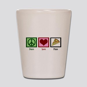 Peace Love Pizza Shot Glass