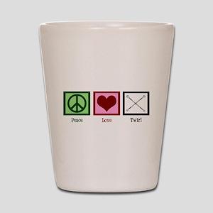 Peace Love Twirl Baton Shot Glass