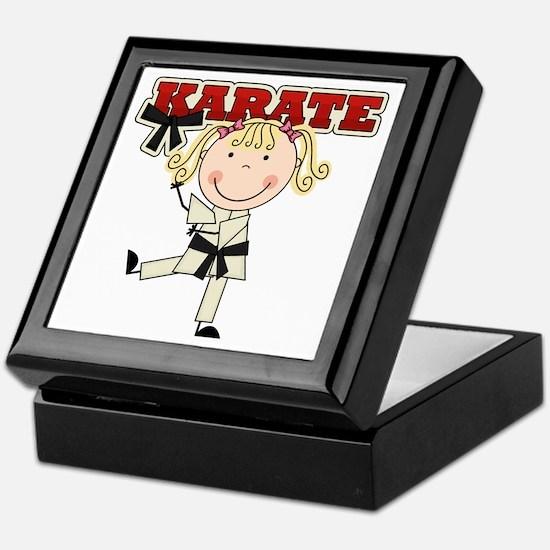Blond Girl Karate Kid Keepsake Box
