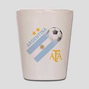 Argentina world cup soccer Shot Glass